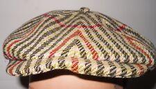 HERBERT JOHNSON CAP - VINTAGE WOOL TWEED NEWSBOY OR CABBY CAP