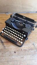 1934 Antique Vintage Royal Portable Typewriter Case Key Very Good Working Cond