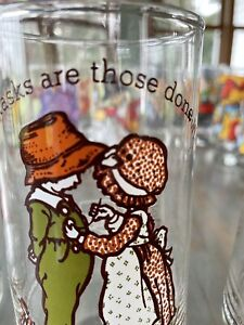 Vintage Coca-Cola Holly Hobbie Happy Talk & Drinking Glasses Set of 5 Different