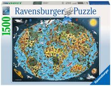 RAVENSBURGER 16360 MAPAMUNDI TIERRA COLORADA PUZZLE 1500 PIEZAS / Cartoon Earth