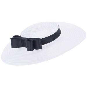 Womens Vintage Look 1950s Fascinator Wedding Church Racing Hat Headpiece T449
