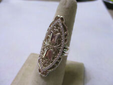 Sterling Silver large long woman's ring new style daily fashion 1 1/2 long sz 7