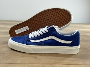 Vans UA Old Skool Skate Shoes Blue/Snow White MN SZ 9 ( VN0A4U3B206 )