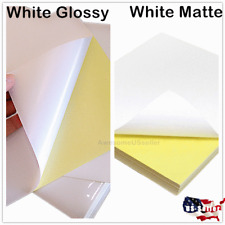 Glossy/Matte Full Sheet Labels Self Adhesive Tag Shipping Address Paper Sticker