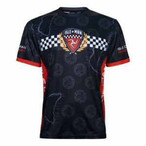 Isle Of  Man TT T Shirt Printed All Over MotoGP SuperBike BSB Road Races