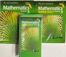 8th Grade 8 Mathematics Homeschool Bundle Math Curriculum Holt Mcdougal