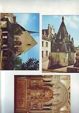Lot 3 cartes postales vierges - tres bon etat - Fontevraud en anjou -