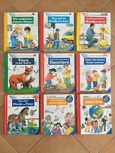 9 x Wieso? Weshalb? Warum? Kinder Bücher Sachbücher Klappenbücher TOP 4-7 J.