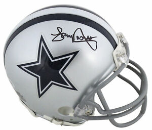 Cowboys Tony Dorsett Authentic Signed Mini Helmet Autographed BAS Witnessed