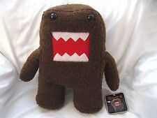 """Licensed Japanese Domo-Kun 14"""" Soft Brown Plush Doll-Brand New with Tags!!"""