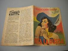 I GRANDI CINE ROMANZI ILLUSTRATI 1947 RITA LA ROSSA lire 12