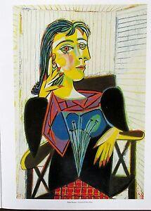 Pablo Picasso Portrait of Dora Maar  Early Cubist Portrait of Woman 14x11