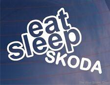 EAT SLEEP SKODA Funny EURO Car/Van/Window/Bumper/Laptop Vinyl Sticker/Decal
