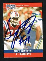 Bruce Armstrong #575 signed autograph auto 1990 Pro Set Football Trading Card