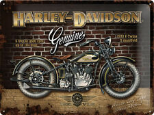 Harley Davidson Brick Wall Motorrad Blechschild 3D geprägt Tin Sign 30 x 40 cm