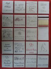 ♥ 30 mit Namen bedruckte Streichholzbriefchen zur HOCHZEIT, silberne, goldene ♥