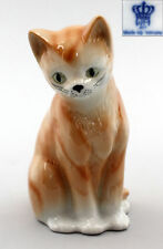 Figurine Porcelain Wagner&Apel Chairman Cat Red Mackerel Tabby H16Cm a2-42184