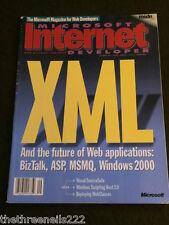 MICROSOFT INTERNET DEVELOPER - V4 # 9 - XML - SEPT 1999