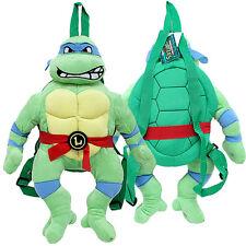 TMNT Leonardo Turtle Plush Doll Backpack Blue Mask Ninja Turtle  Costumes Bag