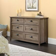 Sauder 419320 County Line 6 Drawer Dresser In Salt Oak Finish New