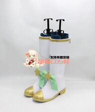 LOL Fae Sorceress Star Guardian Lulu White Halloween Cosplay Shoes Boots X002