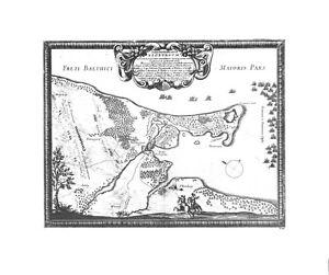 Antique map, Situs locorum circa Neoburgum …