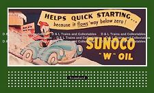 Billboard  for Lionel Holder Sunoco Gas Donald Duck Helps Quick Starting