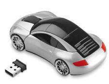 Wireless Mouse Porsche in silber, Auto schnurlos Maus, Computer Laptopmaus Mini
