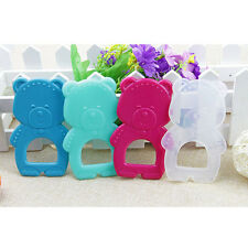 1Pc Baby Teether Toy Newborn Cute Colored Rubber Food Silicone Cartoon Bear