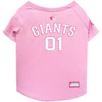 San Francisco Giants MLB Officially Licensed Dog Pet Girl Pink Jersey Sizes XS-L