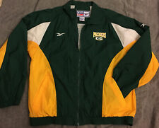 Vtg 90s Reebok Pro Line NFL Green Bay Packers Full Zip Windbreaker Jacket medium