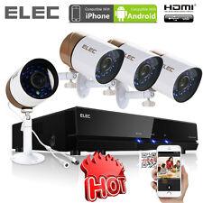 ELEC  8CH DVR Home CCTV Security 4 Outdoor 2000TVL Video IR Camera System Remote