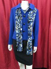 PRECIS Petite Royal Blue Short Jacket & scarf & M&S Navy dress UK 12