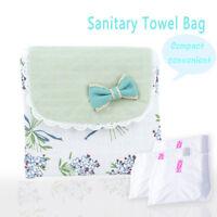 Lovely Flower Pattern Sanitary Towel Napkin Pad Purse Holder Case For Lady Girl