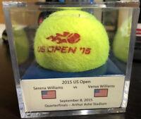 2015 US Open Serena Williams Vs. Venus Williams Quarters Match Used Tennis Ball
