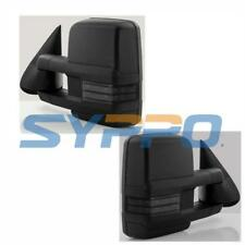 For 14-18 Chevy Silverado GMC Sierra Power+Heated+Smoke LED Signal Tow Mirrors