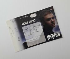 More details for justin timberlake memorabilia / tickets - unused ticket(s) earls court 07/12/03