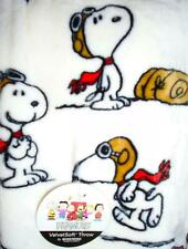 Snoopy Throw Blanket Charlie Brown Peanuts Red Baron Flying Ace *only 2 left!!!*