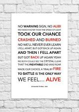 30 Seconds To Mars - Alibi - Song Lyric Art Poster - A4 Size