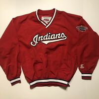 Starter Brand Cleveland Indians Jacobs Field Windbreaker MLB Size Medium Red