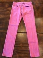 American Eagle Size 4 Women's Pink Coral Stretch Colored Skinny Jeans