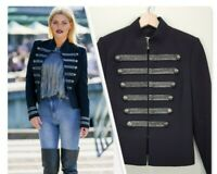 [ WITCHERY ] Womens Black Military Braided Jacket  | Size AU 8 or US 4