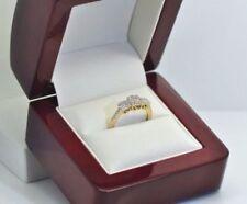 Diamond Three-Stone Yellow Gold Natural Fine Rings