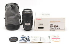 [MINT w/Box + Case] Canon EF 75-300mm f/4-5.6 IS USM AF ZOOM Lens From JAPAN