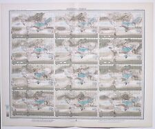 1899 LARGE WEATHER METEOROLOGY MAP ISONEPHS THE WORLD CLOUDINESS ANNUAL