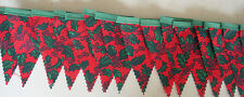 Christmas Red Green Holly MINI Vintage Fabric Bunting Party Decoration 3mt
