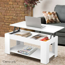 Modern Coffee Table w/ Lift Up Top & Storage Space & Shelf Living Room Furniture