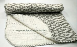 Hand Block Print quilt Kantha baby Quilt Baby New Design Kanth Throw Blanket 976