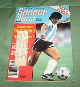Soccer Digest Magazine April/May 1986 World Cup Preview Maradona Cover