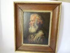 Tableau Peinture à l'huile ' vieil homme ' (21402)